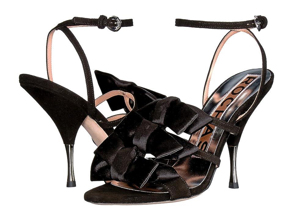 Rochas RO29216-06244 (Camoscio Nero/Raso Nero) High Heels