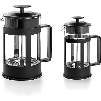 LACOR 62183 Cafetera Francesa Black, 3 tazas, 035 litros, Acero 18/10: Amazon.es: Hogar