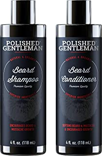 Beard Growth Shampoo and Conditioner Set - Best Organic Face Wash With Biotin & Tea Tree - Best Beard Soap With Beard Oil - Facial Hair Growth Kit For Men - Rapid Hair And Beard Growth - Made In USA