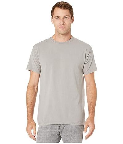 Hanes ComfortWashtm Garment Dyed Short Sleeve T-Shirt (Concrete Gray) Clothing