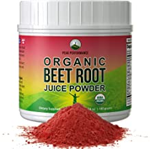 Organic Beet Root Powder - Highest Quality Super Food Beets Juice Powder. 100% Pure Organic Nitric Oxide Boosting Beetroot...