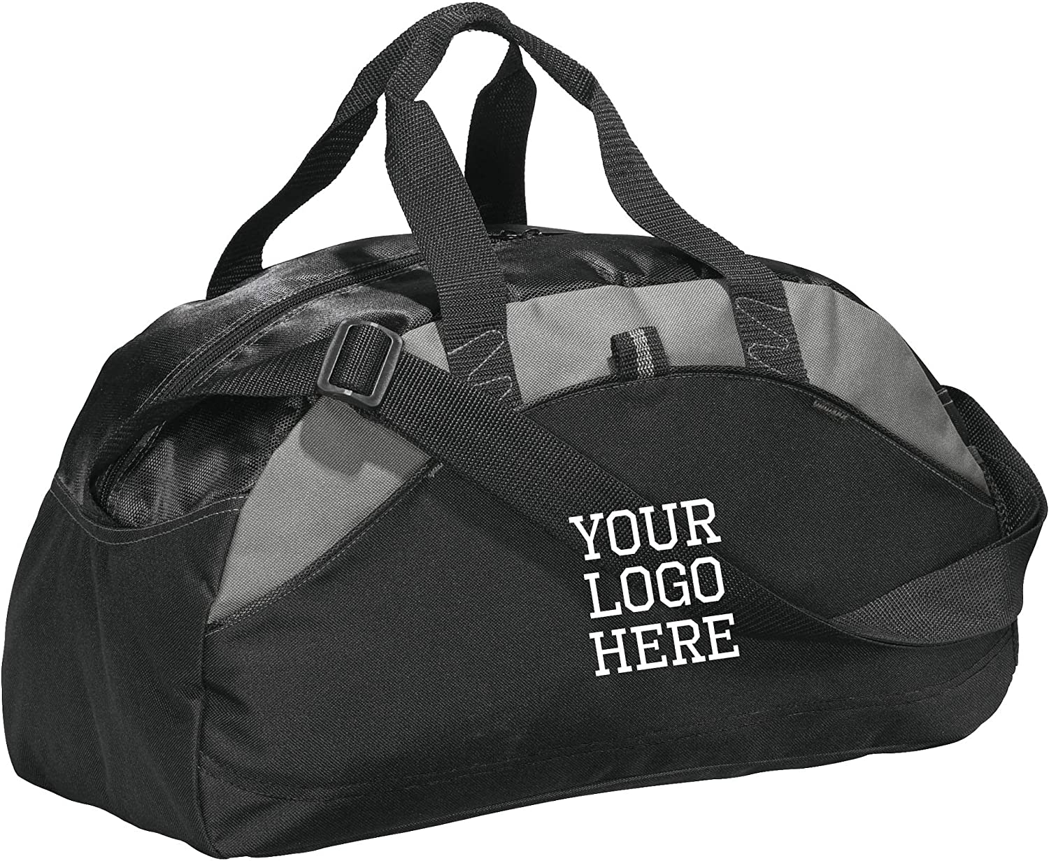 Custom Sport Duffel Bag for Men Women (Contrast Medium) - Add Your Name - Personalized Weekender Bag for Gym, Overnight, Travel