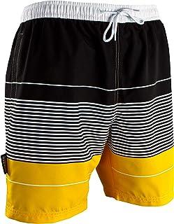 Guggen Mountain Calzoncini da Bagno per Uomo Watershorts Costume da Bagno Adult Rigato