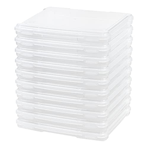 Clear//Spine: 50 mm CheckOutStore Plastic Storage Cases for Wood Mounted Rubber Stamps 10
