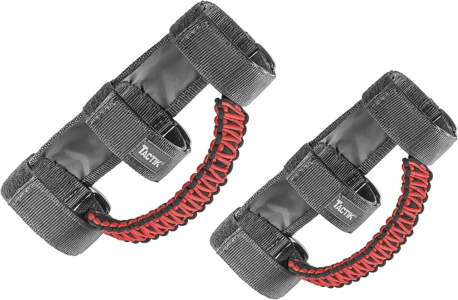 Low price TACTIK Paracord Front Grab Handle Pair Jeep – Red Wrangler Fits Sale