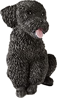 Design Toscano CF343 Black Poodle Puppy Dog Statue, Multicolored