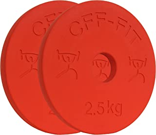 CFF 2.5 kg Competition Rubber Fractional Weight Plates - Pair