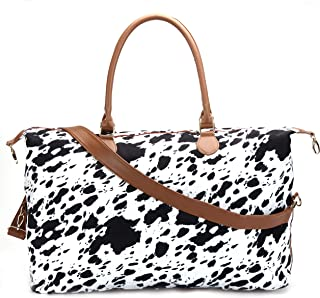 Cow Print Duffle Bag Weekender Bag For Women Travel Tote Bag Overnight Weekend Bag Large Shoulder Bag