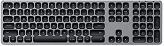 Satechi Aluminum Bluetooth Keyboard with Numeric Keypad & 3-Device Sync - Compatible with iMac Pro/iMac, 2018 Mac Mini, 2018 MacBook Pro/Air, 2018 iPad Pro, MacBook, iPhone Xs (English, Space Gray)