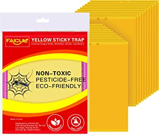 Trapro 20-Pack Dual-Sided Yellow Sticky Traps for Flying Plant Insect Like Fungus Gnats Aphids Whiteflies Leafminers - (6x...