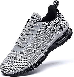 Mens Air Running Sneakers, Men Sport Fitness Gym Jogging Walking Lightweight Shoes, Size 7-12.5
