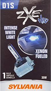 SYLVANIA - D1S SilverStar zXe HID (High Intensity Discharge) Headlight Bulb - High Performance Brighter and Whiter Light, Xenon Fueled, with a HID Attitude and Style (Contains 1 Bulb)