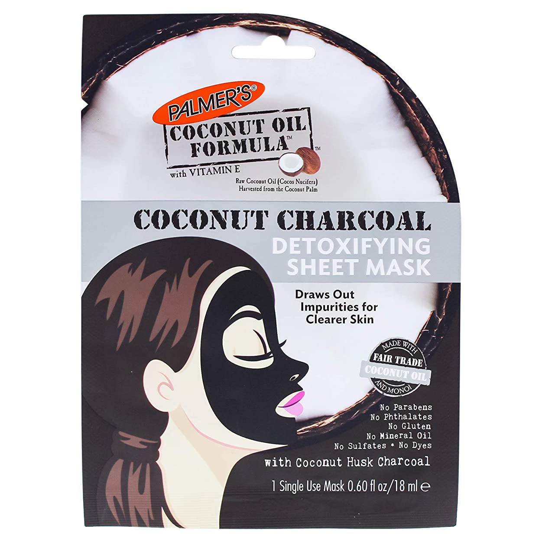 酔う文法天井Coconut Charcoal Detoxifying Sheet Mask