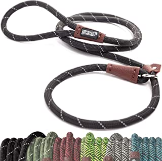 Best Friends Forever Extremely Durable Dog Slip Rope Leash, Premium Quality Mountain Climbing Rope Lead, Strong, Sturdy Comfortable Leash Supports The Strongest Pulling Large Medium Dogs 6 feet Review