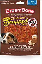 DreamBone Mini Chicken Wrapped Chews with Peanut Butter, 20 Count