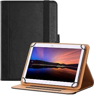 ProCase 9-10インチ 汎用タブレットケース スタンド フォリオケース タッチスクリーン タブレットに対応 角度調整可 書類やカード用ポケット –ブラック