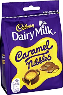 Cadbury Dairy Milk Caramel Nibbles Chocolate Bag, 120 g, Pack of 10