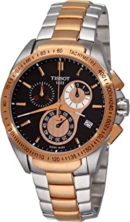 TISSOT MEN'S VELOCI-T 45MM STEEL BRACELET QUARTZ WATCH T024.417.22.051.00