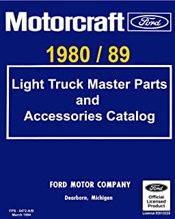 1980-89 Ford Truck Master Parts and Accessory Catalog (English Edition)