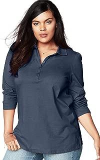 Women's Plus Size Long-Sleeve Polo Ultimate Tee