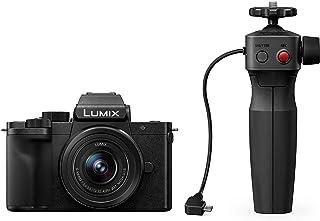 Panasonic Lumix DC G110VEG K Systemkamera (20 MP, 4K, Bildstabilisator, 7,5cm Touch, 12 60mm Objektiv, Stativgriff, schwarz)