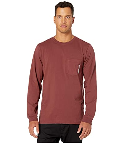 Timberland PRO Base Plate Blended Long Sleeve T-Shirt (Maroon) Men