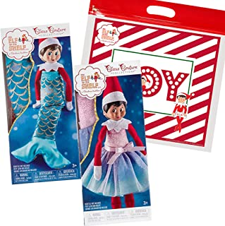 The Elf on the Shelf Claus Couture 2019 Set of 2: Pastel Polar Princess and Merry Merry Mermaid, with Exclusive Joy Bag
