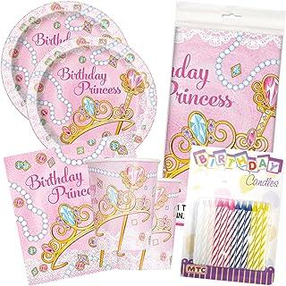Birthday Princess Party Tableware Deluxe Bundle Plates Napkins Serves 16