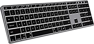 Backlit Keyboard for Mac OS, Jelly Comb Multi-Device Bluetoo