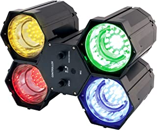 PARTY TIME LA9608 Jeu de Lumière 4 Spots 84 LED, Plastique, Noir