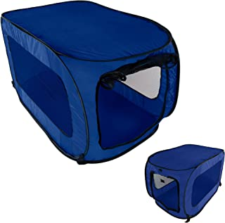 HowPlumb Pet Kennel Crate Pop Open Soft Collapsible Indoor/Outdoor Portable Foldable Travel