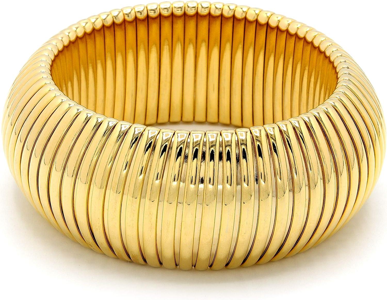 Marshal Metal Fashion Bracelet Omega Gold 18k Stret Plated Brass Houston Mall Free Shipping Cheap Bargain Gift