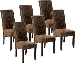 TecTake Lot de 6 Chaises de Salle à Manger 106 cm Chaise de Salon Mobilier Meuble de Salon - diverses Couleurs au Choix - ...
