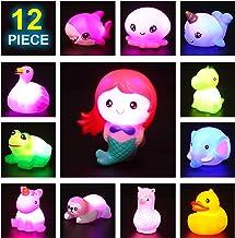JOYIN 12 Packs Light-Up Bath Toys, Bathtub Dinosaur Toys for Baby Toddler Kids in Birthday Easter Christmas, Pool Toy for ...