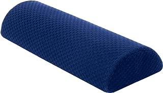 Carex Memory Foam Lumbar Pillow and Leg Pillow - Half Moon Pillow For Lower Back, Knee - Bolster Pillow For Legs