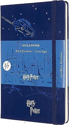 Harry Potter Carnet Ligne Grand Format Bleu