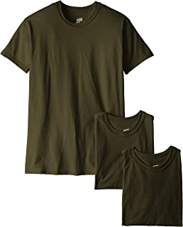 Soffe Men's 3 Pack-USA Poly Cotton Military Tee