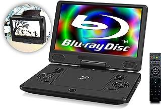 Agrexsione 11.6インチ ポータブルブルーレイプレーヤー BD DVD プレイヤー 充電バッテリー搭載 3電源対応 オリジナル車載ホルダーセット
