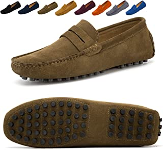 Go Tour Mens Penny Loafers Moccasin Driving Shoes Slip On Flats Boat Shoes