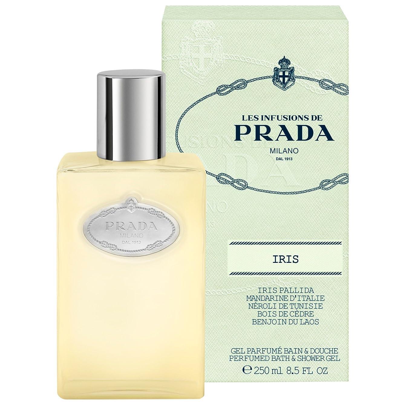 岩複雑ドアミラープラダアイリスシャワージェル250ミリリットル (Prada) (x6) - Prada Iris Shower Gel 250ml (Pack of 6) [並行輸入品]