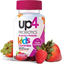 up4 Kids Probiotic Gummies | Digestive and Immune Support | Gelatin-free, Vegan, Non-GMO | With prebiotic and vitamin C | ...