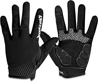 KUTOOK Full Finger Cycling Gloves Touch Screen Gel Pad MTB Gloves for Men Women