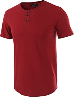 Men's Classic Comfort Soft Regular Fit Short Sleeve Henley T-Shirt Tee
