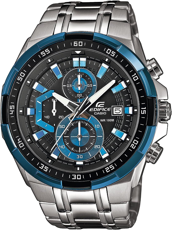 Casio Reloj Analógico para Hombre de Cuarzo con Correa en Acero Inoxidable EFR-539D-1A2VUEF