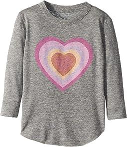 Super Soft Long Sleeve Big Heart Tee (Toddler/Little Kids)