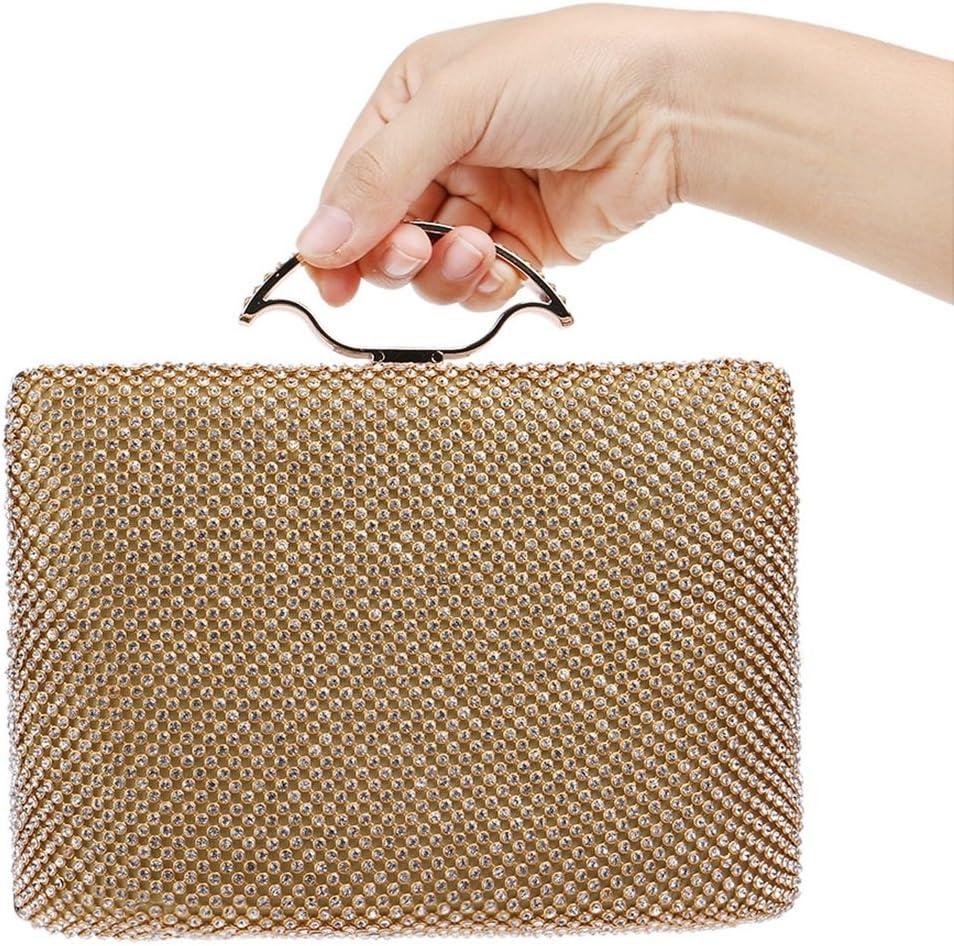 Wang5995 Handbags Ladies Diamonds Luxury Banquet Clutches Purse Evening Bags Handbags Boutique (Color : Gold)