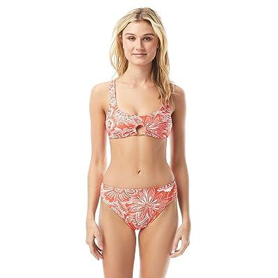 Vince Camuto Riviera Dei Fiori Ring Bikini Top w/ Removable Soft Cups (Poppy) Women