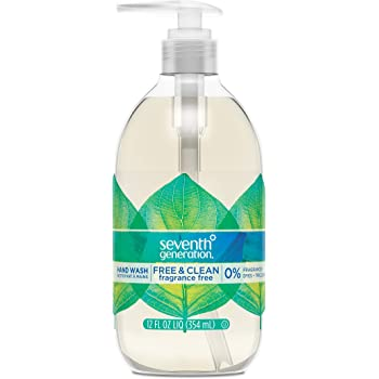 Seventh Generation Hand Wash Soap, Free & Clean Unscented, 12 oz, Pack of 8 (Packaging May Vary )