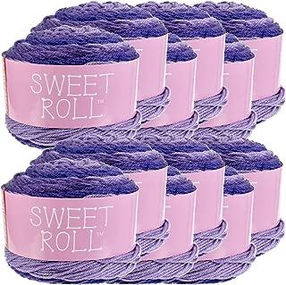 Premier Yarns 98379 Sweet Roll Yarn 12/Pk, Grape Swirl Pack