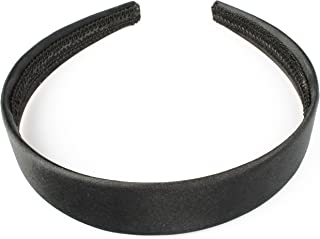 2.5cm Wide Satin Alice Band in black